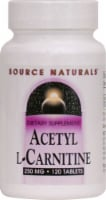 Source Naturals Acetyl L- Carnitine Tablets 250mg 120 Count