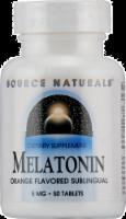 Source Naturals Melatonin Orange Flavored Tablets 5 mg - 50 ct