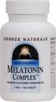 Source Naturals Melatonin Complex Orange Flavored Tablets 3 mg