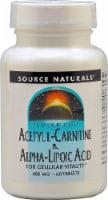 Source Naturals Acetyl L-Carnitine & Alpha-Lipoic Acid Tablets 650mg