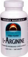 Source Naturals Free Form L-Arginine Tablets 1000mg - 100 ct