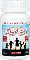 Source Naturals Kids' D3 Fast Melt Black Cherry Tablets