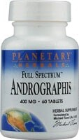 Planetary Herbals Full Spectrum™ Andographis Tablets 400 mg - 60 ct