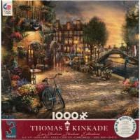 Thomas Kinkade Studios- Amsterdam Cafe 100 piece Jigsaw Puzzle - 1