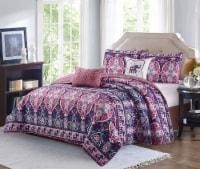 Harper Lane Blush & Purple Victoria 5 Piece Quilt Set - King