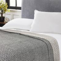 Harper Lane Black Chevron Cotton Blanket - Full / Queen