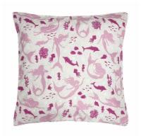 Harper Lane Pretty In Pink Mermaid Decorative Pillow - 18 In x 18 In