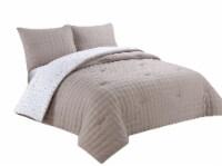 Harper Lane Diana Comforter Set - 3 Piece - Tan