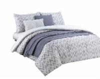 Harper Lane Zoe Ikat Chevron Comforter Set - Gray/White