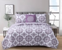 Harper Lane Dustin Purple 3 Piece Quilt Set - 3 pc / Twin