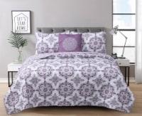 Harper Lane Dustin Purple 4 Piece Quilt Set - 4 pc / Full / Queen