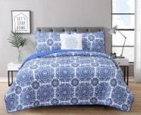 Harper Lane Briar Blue 4 Piece Quilt Set - 4 pc / King