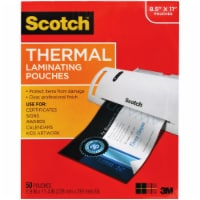 """Laminating Pouches, 3 mil, 9"""" x 11.5"""", Gloss Clear, 50/Pack TP3854-50"""
