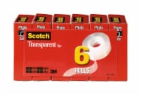 Scotch® Transparent Tape - 6 pk - Clear