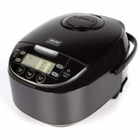 Aroma Houseware ARC-6106AB 6 Cup Japanese Style Rice Cooker Food Steamer, Black - 1 Piece