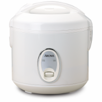 Aroma Cool-Touch Rice Cooker and Food Steamer - White