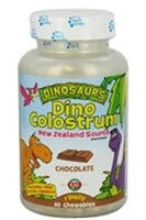 KAL Dinosaurs Dino Colostrum Chocolate Chewables 300mg 60 Count