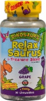 KAL Dinosaurs Relax-a-Saurus L-Theanine Blend Grape Chewables 30 Count