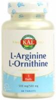 Kal  L-Arginine L-Ornithine - 500 mg - 60 Tablets