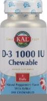 Kal  Vitamin D-3   Peppermint Chewables 1000 iu