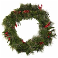 Good Tidings Mixed Pine Wreath Decor