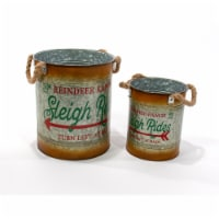 Good Tidings Rustic Metal Accent Buckets