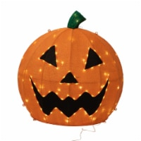 Good Tidings LED Lit Burlap Jack O' Lantern