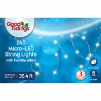 Good Tidings Micro LED String Lights - 240 Pack - White