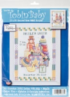 Tobin Counted Cross Stitch Kit 11 X14 -Toys Sampler Birth Record (14 Count) - 1