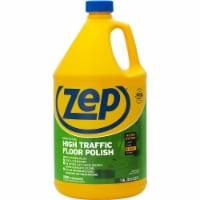 Zep High-Traffic Floor Finish - 128 fl oz (4 quart) - 1 Each - Clear, Green - 1