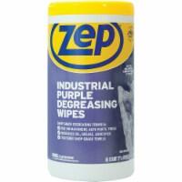 Zep Industrial Purple Cleaning & Degreasing Wipes (65 Count) ZUINDPRPL65 - 65 Ct.
