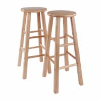 Winsome Element 29 Inch Tall Solid Wood Counter Bar Stool Set, 2 Piece, Natural