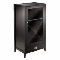 Winsome Bordeaux X Panel Modular Bar Cabinet in Espresso - 1