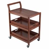 Winsome 33.27 Inch Tall Wood Albert Entertainment Kitchen Storage Cart, Walnut - 1 Piece