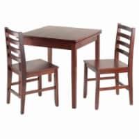 Pulman 3-Pc Set Extension Table w/ 2 Ladder Back Chairs - 1 unit
