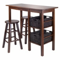 Winsome Egan 3 Piece Breakfast Dining Set and 2 Baskets - 1