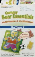 Rainbow Light Gummy Bear Essentials Multivitamin & Multimineral Plus Vitamin D Gummies Packets
