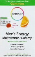 Rainbow Light Men's Energy Multivitamin Orange Zest Flavor Gummies Packets
