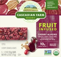 Cascadian Farm Organic Fruit Infused Cherry Almond Chewy Granola Bars