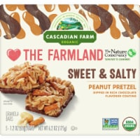 Cascadian Farm Organic Sweet & Salty Peanut Pretzel Chewy Granola Bars 5 Count