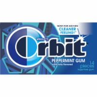 ORBIT Peppermint Sugar Free Chewing Gum 14 Count - 14 ct