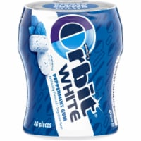 ORBIT WHITE Peppermint Sugar Free Chewing Gum 40 Count