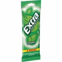 EXTRA Spearmint Sugar Free Chewing Gum 3 Pack