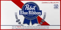 Pabst Blue Ribbon Beer - 18 cans / 12 fl oz