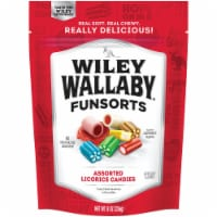 Wiley Wallaby Funsorts Assorted Fruit Flavor 8 Oz. Licorice 122319 - 8 Oz.