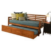 Kodiak Furniture Boho Daybed and Trundle in Barbados Brown with Aqua Mattresses - 1