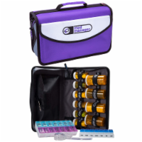 Med Manager Mini Medicine Organizer and Pill Case, Holds (10) Pill Bottles, Purple - 1