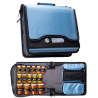 Med Manager Diabetic Supply Organizer with Insulin Cooler Travel Case, Light Blue - 1