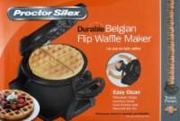 Proctor Silex® Belgian Flip Waffle Baker - Black