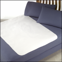 Rest Right Waterproof Plush Underpad - White